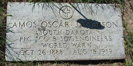 JACOBSON, AMOS OSCAR - Minnehaha County, South Dakota | AMOS OSCAR JACOBSON - South Dakota Gravestone Photos