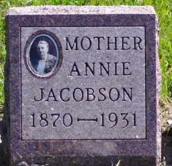 JACOBSON, ANNIE - Minnehaha County, South Dakota | ANNIE JACOBSON - South Dakota Gravestone Photos