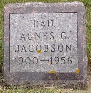 JACOBSON, AGNES G. - Minnehaha County, South Dakota | AGNES G. JACOBSON - South Dakota Gravestone Photos