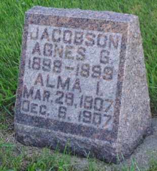 JACOBSON, AGNES G. - Minnehaha County, South Dakota | AGNES G. JACOBSON - South Dakota Gravestone Photos