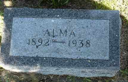 JACOBSON, ALMA - Minnehaha County, South Dakota   ALMA JACOBSON - South Dakota Gravestone Photos