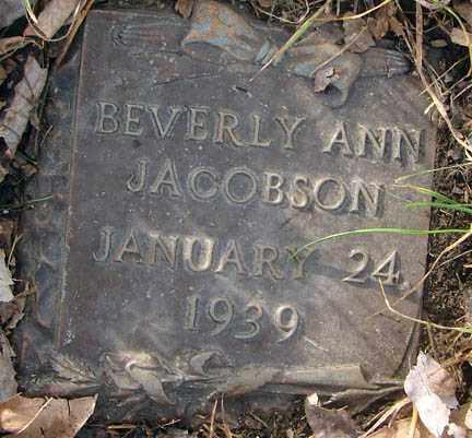 JACOBSON, BEVERLY ANN - Minnehaha County, South Dakota | BEVERLY ANN JACOBSON - South Dakota Gravestone Photos