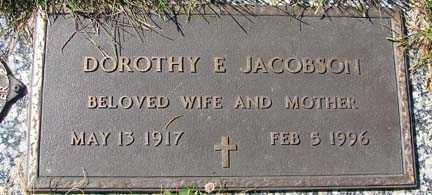 JACOBSON, DOROTHY E. - Minnehaha County, South Dakota   DOROTHY E. JACOBSON - South Dakota Gravestone Photos