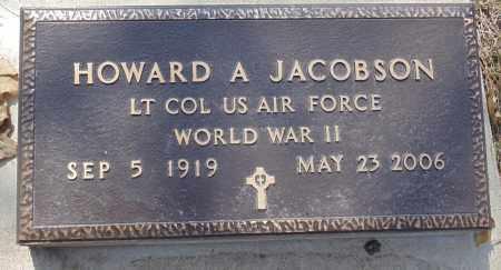 JACOBSON, HOWARD A. - Minnehaha County, South Dakota   HOWARD A. JACOBSON - South Dakota Gravestone Photos