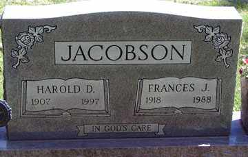 JACOBSON, FRANCES J. - Minnehaha County, South Dakota | FRANCES J. JACOBSON - South Dakota Gravestone Photos