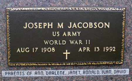 JACOBSON, JOSEPH M. - Minnehaha County, South Dakota | JOSEPH M. JACOBSON - South Dakota Gravestone Photos