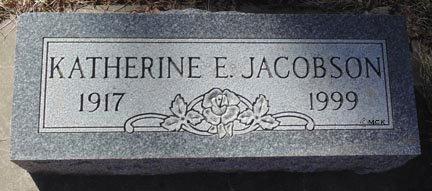 JACOBSON, KATHERINE E. - Minnehaha County, South Dakota | KATHERINE E. JACOBSON - South Dakota Gravestone Photos