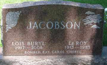 JACOBSON, LOIS BURYL - Minnehaha County, South Dakota | LOIS BURYL JACOBSON - South Dakota Gravestone Photos