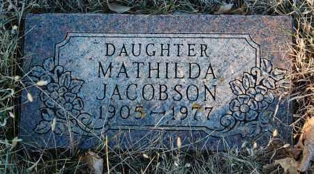 JACOBSON, MATHILDA - Minnehaha County, South Dakota | MATHILDA JACOBSON - South Dakota Gravestone Photos