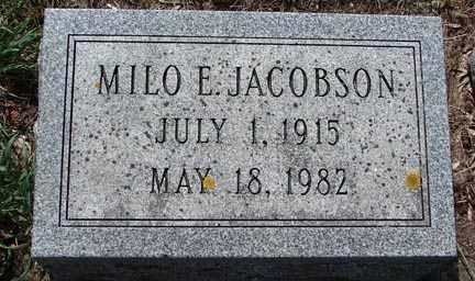 JACOBSON, MILO E. - Minnehaha County, South Dakota | MILO E. JACOBSON - South Dakota Gravestone Photos