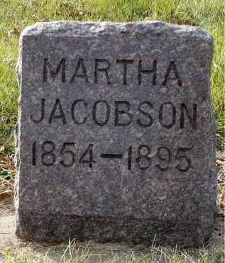 JACOBSON, MARTHA - Minnehaha County, South Dakota | MARTHA JACOBSON - South Dakota Gravestone Photos