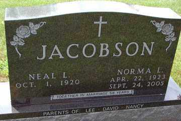 JACOBSON, NORMA LORRAINE - Minnehaha County, South Dakota | NORMA LORRAINE JACOBSON - South Dakota Gravestone Photos