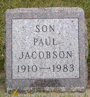 JACOBSON, PAUL - Minnehaha County, South Dakota   PAUL JACOBSON - South Dakota Gravestone Photos