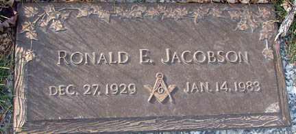 JACOBSON, RONALD E. - Minnehaha County, South Dakota | RONALD E. JACOBSON - South Dakota Gravestone Photos