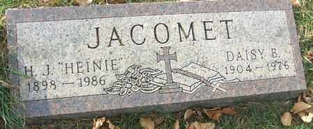 "JACOMET, HENRY J. ""HEINIE"" - Minnehaha County, South Dakota | HENRY J. ""HEINIE"" JACOMET - South Dakota Gravestone Photos"