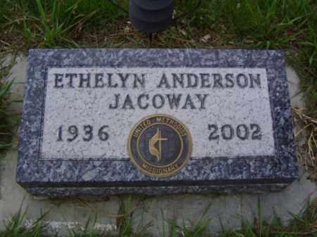 ANDERSON JACOWAY, ETHELYN MARIE - Minnehaha County, South Dakota | ETHELYN MARIE ANDERSON JACOWAY - South Dakota Gravestone Photos