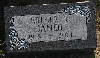 JANDL, ESTHER T. - Minnehaha County, South Dakota | ESTHER T. JANDL - South Dakota Gravestone Photos