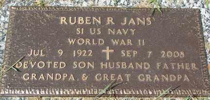 JANS, RUBEN R. (WWII) - Minnehaha County, South Dakota | RUBEN R. (WWII) JANS - South Dakota Gravestone Photos