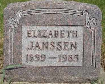 JANSSEN, ELIZABETH - Minnehaha County, South Dakota | ELIZABETH JANSSEN - South Dakota Gravestone Photos