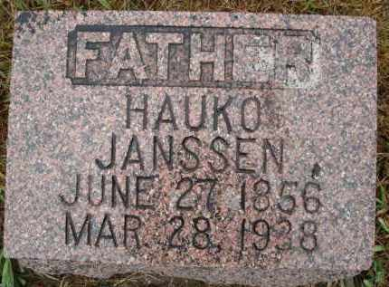 JANSSEN, HAUKO - Minnehaha County, South Dakota | HAUKO JANSSEN - South Dakota Gravestone Photos