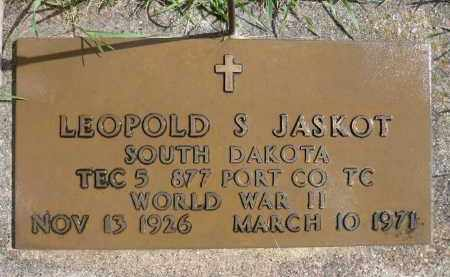 JASKOT, LEOPOLD S. (WWII) - Minnehaha County, South Dakota | LEOPOLD S. (WWII) JASKOT - South Dakota Gravestone Photos
