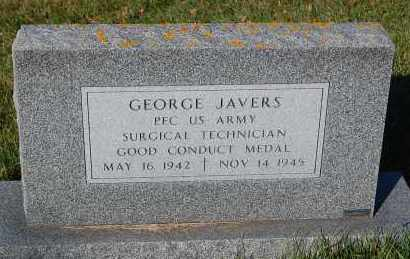 JAVERS, GEORGE (MILITARY) - Minnehaha County, South Dakota | GEORGE (MILITARY) JAVERS - South Dakota Gravestone Photos