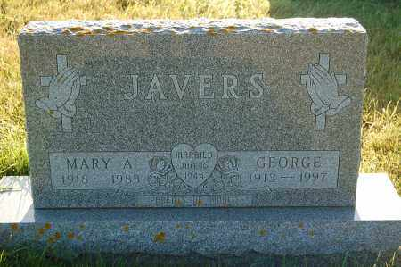 JAVERS, MARY A. - Minnehaha County, South Dakota | MARY A. JAVERS - South Dakota Gravestone Photos