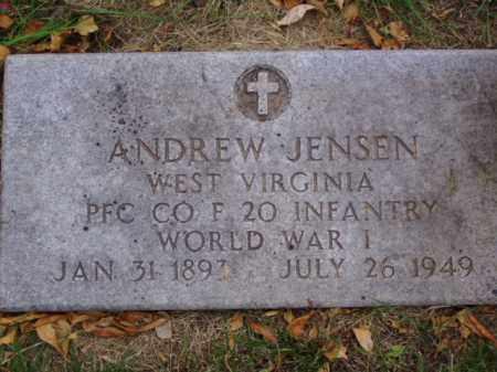 JENSEN, ANDREW - Minnehaha County, South Dakota | ANDREW JENSEN - South Dakota Gravestone Photos