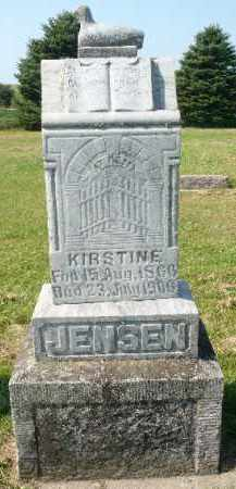 JENSEN, KIRSTINE - Minnehaha County, South Dakota | KIRSTINE JENSEN - South Dakota Gravestone Photos