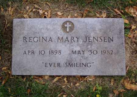 JENSEN, REGINA MARY - Minnehaha County, South Dakota | REGINA MARY JENSEN - South Dakota Gravestone Photos