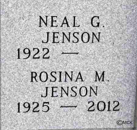 JENSON, ROSINA M. - Minnehaha County, South Dakota | ROSINA M. JENSON - South Dakota Gravestone Photos