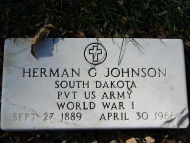 JOHNSON, HERMAN G. - Minnehaha County, South Dakota | HERMAN G. JOHNSON - South Dakota Gravestone Photos