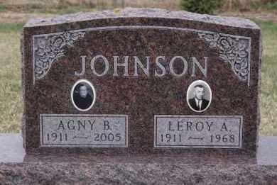 JOHNSON, LEROY A - Minnehaha County, South Dakota | LEROY A JOHNSON - South Dakota Gravestone Photos
