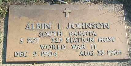JOHNSON, ALBIN L. - Minnehaha County, South Dakota | ALBIN L. JOHNSON - South Dakota Gravestone Photos