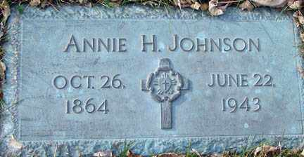 JOHNSON, ANNIE H. - Minnehaha County, South Dakota | ANNIE H. JOHNSON - South Dakota Gravestone Photos