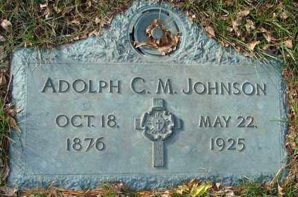 JOHNSON, ADOLPH C.M. - Minnehaha County, South Dakota | ADOLPH C.M. JOHNSON - South Dakota Gravestone Photos
