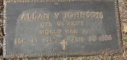 JOHNSON, ALLAN V. - Minnehaha County, South Dakota | ALLAN V. JOHNSON - South Dakota Gravestone Photos
