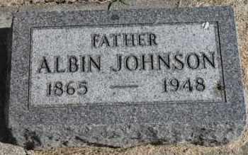 JOHNSON, ALBIN - Minnehaha County, South Dakota | ALBIN JOHNSON - South Dakota Gravestone Photos