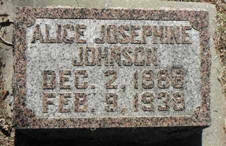 JOHNSON, ALICE JOSEPHINE - Minnehaha County, South Dakota | ALICE JOSEPHINE JOHNSON - South Dakota Gravestone Photos