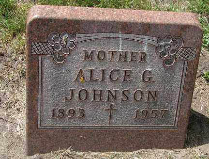 JOHNSON, ALICE G. - Minnehaha County, South Dakota | ALICE G. JOHNSON - South Dakota Gravestone Photos