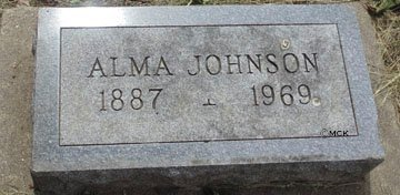 JOHNSON, ALMA - Minnehaha County, South Dakota | ALMA JOHNSON - South Dakota Gravestone Photos
