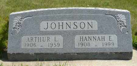 JOHNSON, ARTHUR L. - Minnehaha County, South Dakota | ARTHUR L. JOHNSON - South Dakota Gravestone Photos