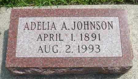 JOHNSON, ADELIA A. - Minnehaha County, South Dakota | ADELIA A. JOHNSON - South Dakota Gravestone Photos