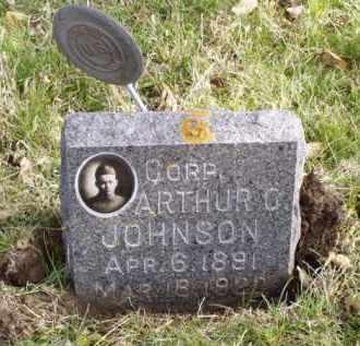JOHNSON, ARTHUR CLARENCE - Minnehaha County, South Dakota | ARTHUR CLARENCE JOHNSON - South Dakota Gravestone Photos