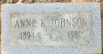 JOHNSON, ANNE K. - Minnehaha County, South Dakota | ANNE K. JOHNSON - South Dakota Gravestone Photos