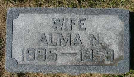 JOHNSON, ALMA N. - Minnehaha County, South Dakota | ALMA N. JOHNSON - South Dakota Gravestone Photos