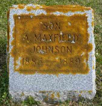 JOHNSON, A. MAXFIELD - Minnehaha County, South Dakota | A. MAXFIELD JOHNSON - South Dakota Gravestone Photos