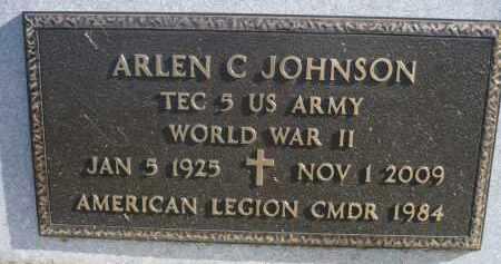 JOHNSON, ARLEN C. (WWII) - Minnehaha County, South Dakota | ARLEN C. (WWII) JOHNSON - South Dakota Gravestone Photos