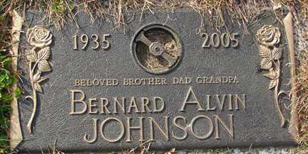 JOHNSON, BERNARD ALVIN - Minnehaha County, South Dakota   BERNARD ALVIN JOHNSON - South Dakota Gravestone Photos