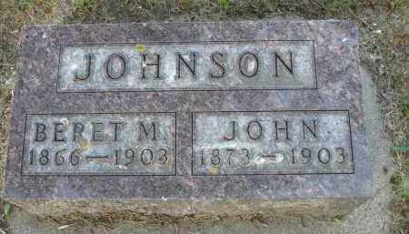 JOHNSON, BERET M. - Minnehaha County, South Dakota | BERET M. JOHNSON - South Dakota Gravestone Photos